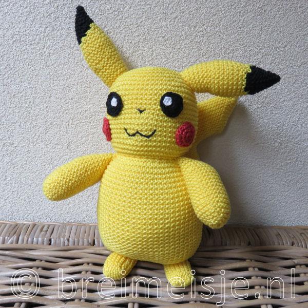 Afbeeldingsresultaat voor pikachu breipatroon