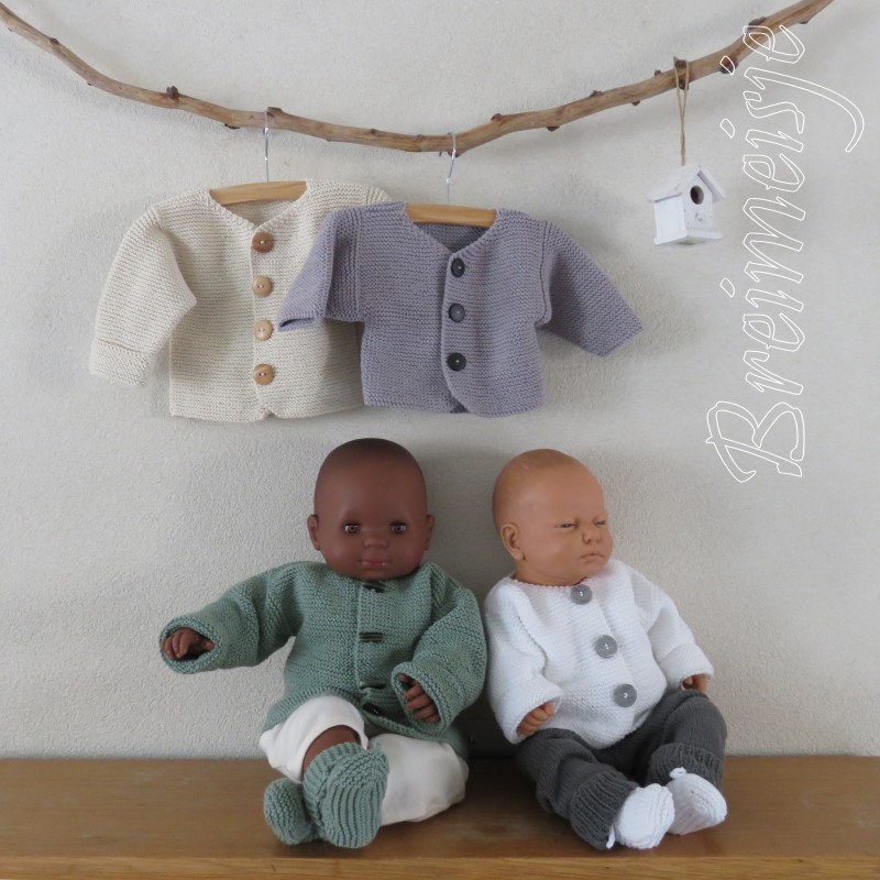 Breipatroon babyjasje