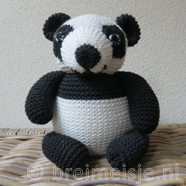 Panda - pandabeer - reuzenpanda breien patroon